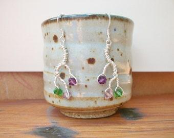 Branch Earrings in Lilac Bush