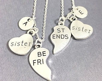 Best Friend Sister Necklace, Jewelry Set of two,best friend necklace, always necklace,  potter,always pendant,friendship jewelry,gift sister