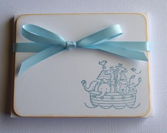 Baby Flat Note Cards - Noah's Ark - Set of 10