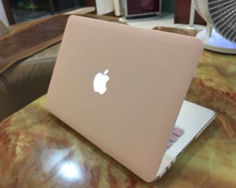 Milk Pink Macbook case with keyboard cover /light/thin/milk white laptop cover Hard Case