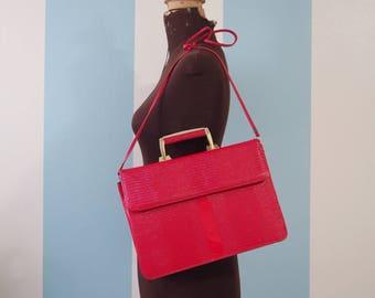 VINTAGE-Faux leather shoulder bag