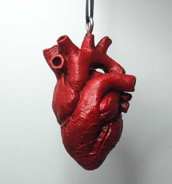 Anatomical Human Heart Ornament