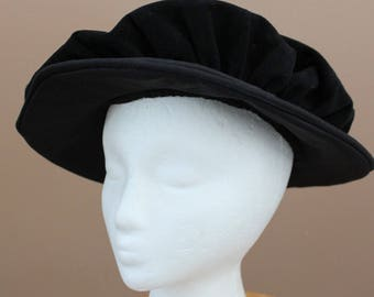 Black Childs Tudor Prince Elizabethan Hat, Dress Up Renaissance Medieval Costume,  Boys Kids Girls Cap, LARP Celtic SCA costume