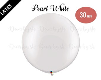 30 Inch Giant Balloons, PEARL WHITE, Wedding, Graduation, Birthday, Baby Shower, Bridal Shower, Engagement, Photo prop