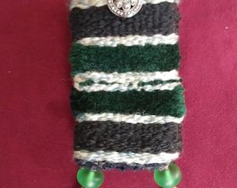 Green beads stash bag