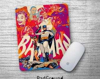 Batman Mouse Pad, Mousepads, Mouse Mat, Superhero, Villains, Office Decor, Kids Decor, Home Decor, Gifts, Soft Fabric Rubber Backing -PGM10