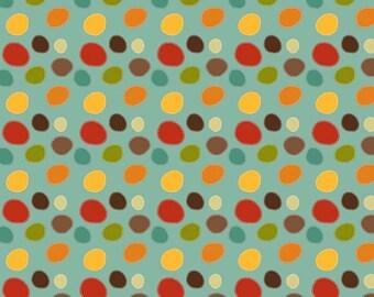 SALE Riley Blake Fabric TEAL Giraffe Dots Teal C2853-