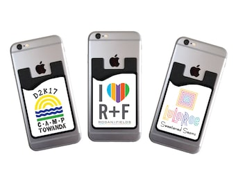 Personalized cell phone card caddy phone wallet card holder custom cell phone card caddy phone wallet with your logo card holder id credit card student id marketing promotional item for your business colourmoves