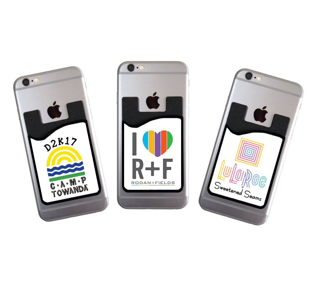 Custom cell phone card caddy phone wallet with your logo card holder custom cell phone card caddy phone wallet with your logo card holder id credit card student id marketing promotional item for your business colourmoves Image collections