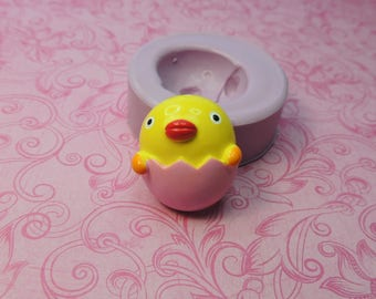 Egg Chick Mold, Silicone Mold, Clay Chick Molds, Fondant Mold, Chocolate, Butter, Wax, Resin Molds, Soap, Easter Mold