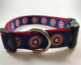 Captain America Dog Collar