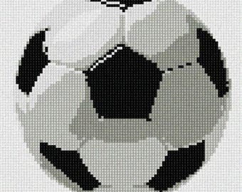 Needlepoint Kit or Canvas: Soccer Ball