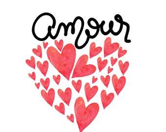 Affiche Amour coeur