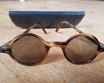 Original Art Deco Sunglasses Round 1920s Antique