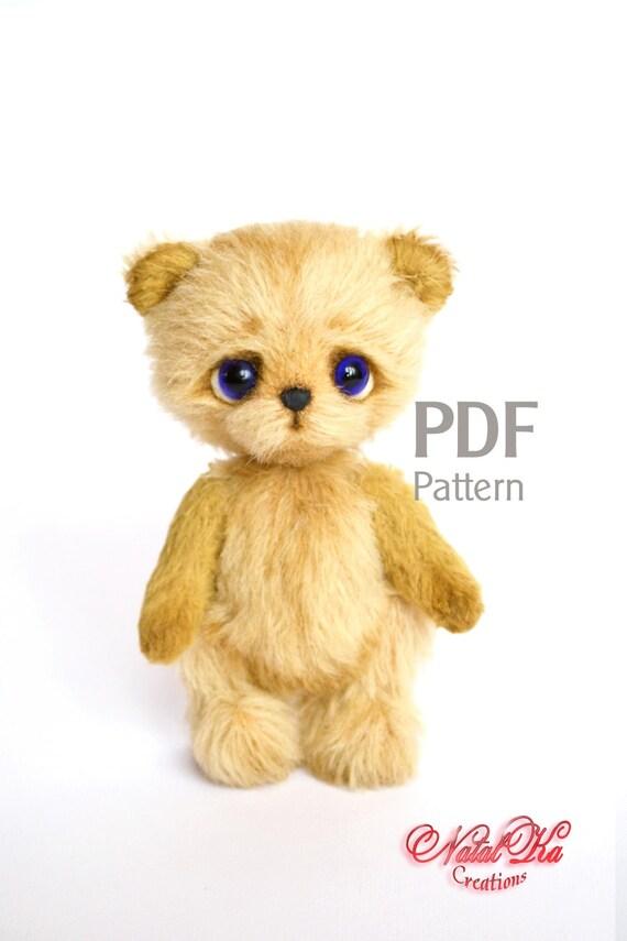 Bär Schnittmuster Teddy mit Charme Künstlerbär Teddy