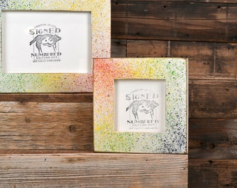 Rainbow Magic Sprinkles Style Picture Frame - Choose your small frame size -  3x3, 3.5x5, 4x4, 4x6, 5x5, 5x7, 6x6, 6x8 and more