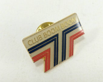 Club Boom Boom pin badge, 90's pin badge, vintage pin, promotional pin badge