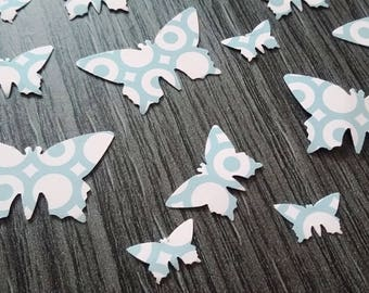 X 100 grey/pink butterfly table confetti