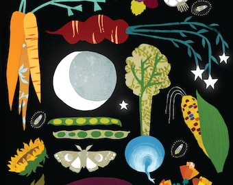 The Garden at Night Giclee Print