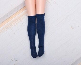 navy blue socks for Blythe doll- stockings for Blythe by BlablaBlythe