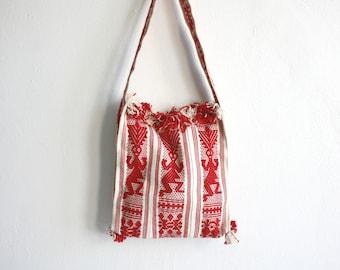 Red Fringe Textile Purse