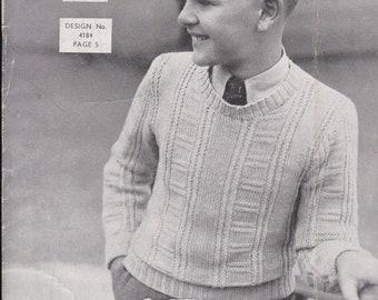 ON SALE Vintage 1940s - Sunglo Knitting Pattern Series No 140 For Children - Original Pattern