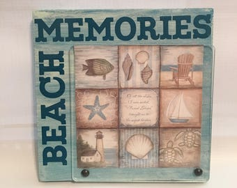 Ready To Ship - Beach Memories Photo Block, photo insert