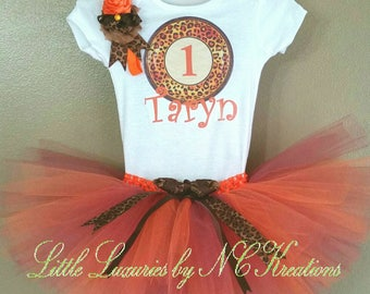 Jungle Leopard Cheetah Birthday Tutu Outfit - TO-001