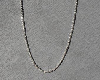 Chaîne Spiga brillante or blanc 42 cm avec mousqueton