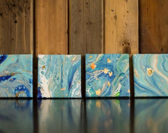Mini Canvas set : Aquatic Series