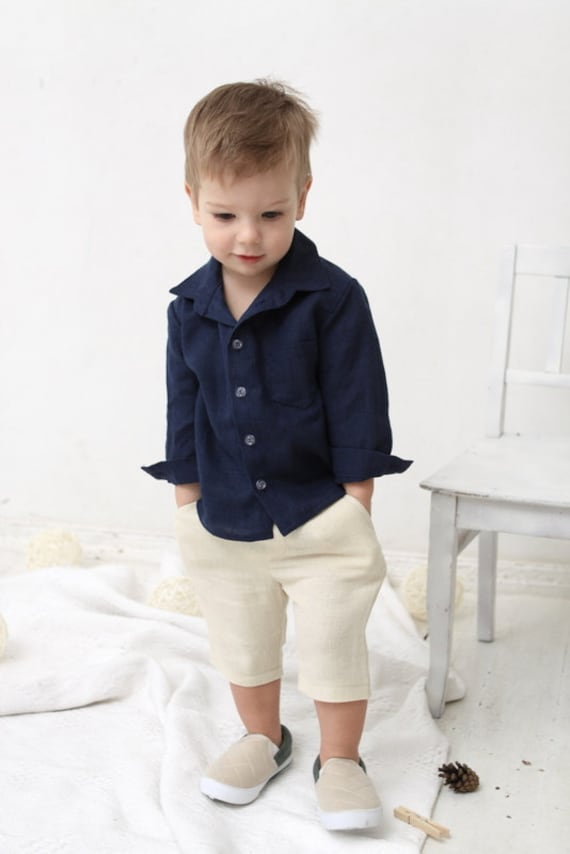 Baby Boy dress shirt Wedding party 1st birthday Baptism Long