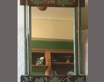 Antique wooden mirror (height 85cm, length 55cm)
