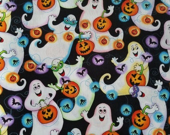 Happy Ghosts Cotton Fabric Sold by the yard
