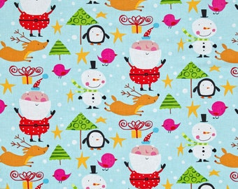Fabric by the Yard --  Merry Christmas North Pole in Bright by David Walker