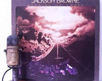 """Jackson Browne (with David Lindley) Vinyl Record Album Lp 1970s LIVE Country Rock and Roll Classic Rock """"Running On Empty"""" (1977 Elektra)"""