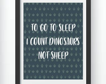 Count Dinosaurs Not Sheep