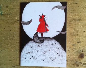 Red Riding Howl Card
