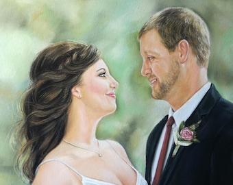 Anniversary gift for men Couples Portrait , Custom  Portrait , Personalized Art, Wedding Gift, Engagement Gift Wall Decor