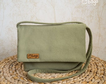 Everyday cross-body bag / casual bag / woman bag / olive color