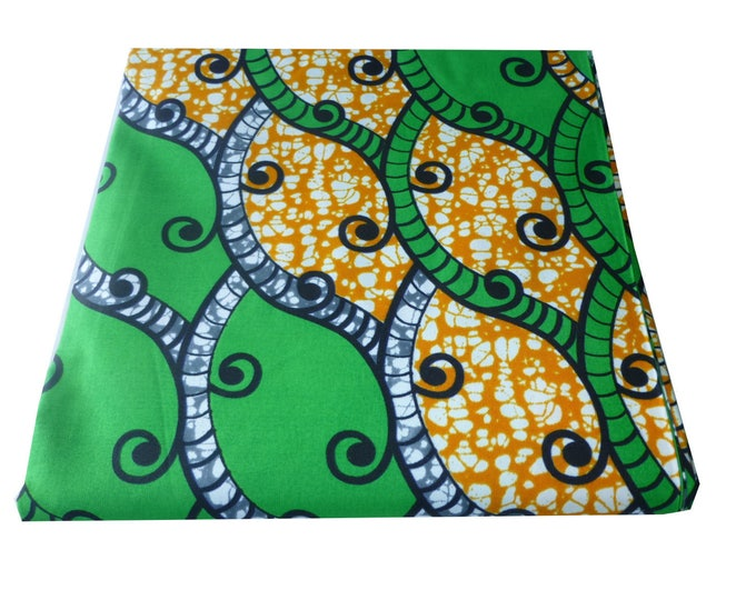 African Fabrics  Cotton Fabric For Dressmaking and Craft Making/Ankara Print/Sewing Fabrics  Sold BY FAT QUARTER