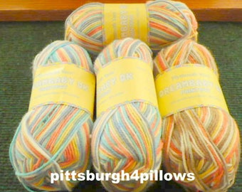 New Listing - Dreambaby DK - ( Paintpot ) - Plymouth Yarn - 3 - 1409 - 1- 1407 - Price Is For All - 50 Gr.