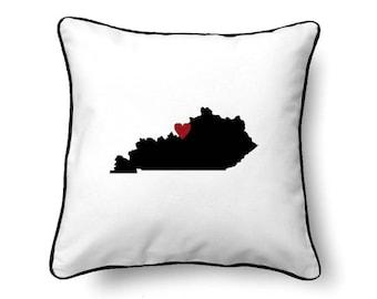 Kentucky Pillow - Kentucky Gift - Kentucky Map - KY State Map