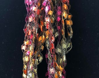 Bright Pastels Crochet Necklace