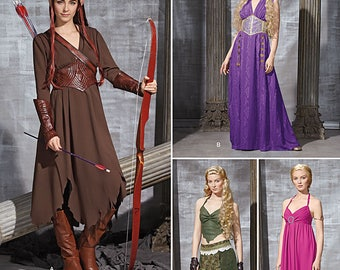 Simplicity Pattern 1010-Elf Costume Lord of the Rings Plus Size 14-22