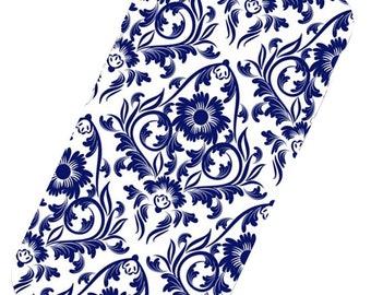Blue Floral Ornamental Phone Case, iphone 6 Case, iphone 7 Case, iphone 6 plus Case, iphone 7 plus, iphone X Phone Case, iphone 8, iphone 5