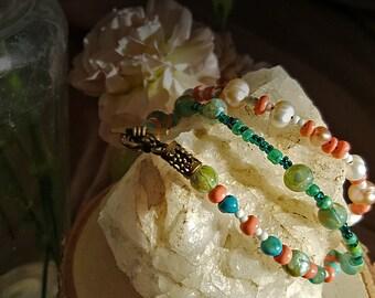 Simple Beaded Spring Bracelet