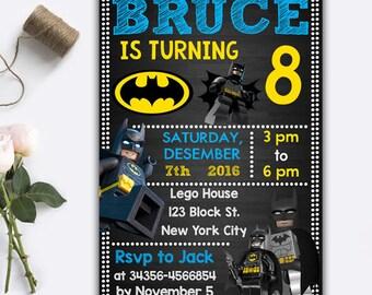 Batman invitations Etsy