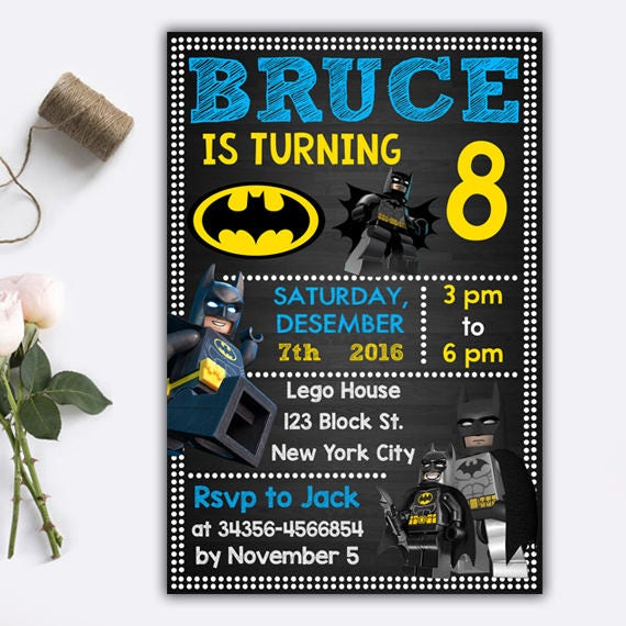 Lego Batman Invitations Lego Batman Lego Batman Birthday