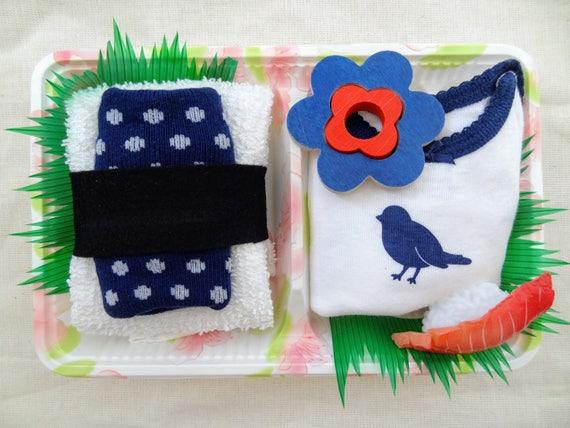 Sale Destash Blue Bird Baby Shower Favor Gift Bento Box