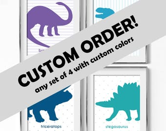 Any Set of 4 Prints With Custom Colors!